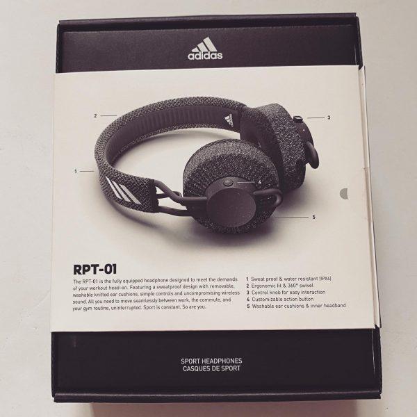 adidas rpt-01 sports headphones box back